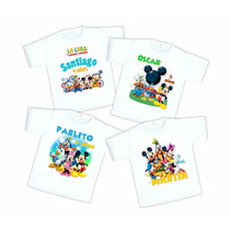 10 Playeras Casa De Mickey Personalizadas Envío Gratis