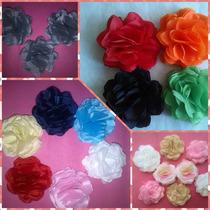Flores De Tela Tipo Rosas, Cintillos, Coronas De Flores 10cm