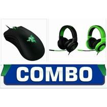 Combo Headset Razer Kraken Pro + Mouse Razer Deathadder 2013