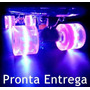 Skate Mini Long Shape Transparente Com Roda Led, Imperdivel