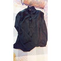 Camisa Negra Talla Plus-usada-sin Detalles