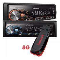 Radio Pioneer Mvh-x288fd Potente Mixtrax Usb + Pendrive 8g