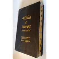 Bíblia Sagrada Edição Promessas Letra Gigante Preta C/ Harpa