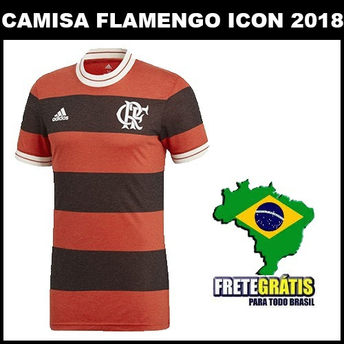 184cc7d48f Nova Camisa Flamengo 2018 Original Torcedor - Frete Gratis - R  89 ...