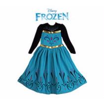 Vestido Elsa Frozen Coroação Da Rainha 2 Ou 3 Anos
