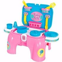 Kit De Cozinha Baby Alive + Carrinho Mercado Magic Toys