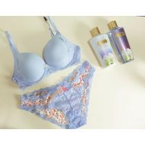 Sutia E Calcinha E Creme Hidratante Victorias Secret
