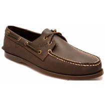 Zapato De Piel Top Sailer Modelo 201 Cafe