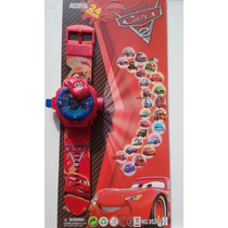 Relógio Infantil Com Projetor Imagem Do Carros Mcqueem
