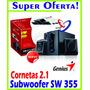 Cornetas Genius Sw-2.1 355 10watts Subwoofer Super Oferta