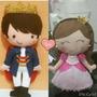 Bonecos De Feltro Principe E Princesa