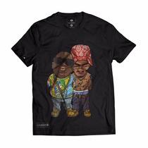 Camiseta Camisa Swag Tupac Biggie Estilo Rap Thug La Nine
