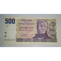 Billete 500 Pesos Argentinos Serie A *072