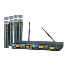 Microfone Sem Fio Staner Quadruplo Srw48q Ht48 Nf E Garantia