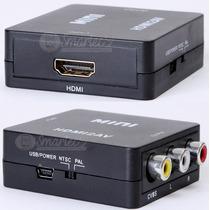 Conversor Hdmi A Video Rca - Adaptador Audio Y Video Led Tv