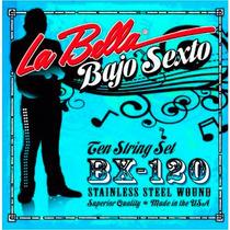 Encordado La Bella Para Bajo Sexto 12 Cuerdas Bx120