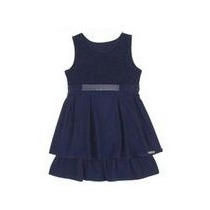 Vestido Infantil Feminino Cinto C/strass - Angerô Malhas