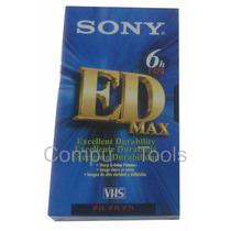 Cassete Vhs Sony 6h Edmax T-120ede