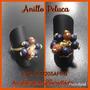 Anillo Dorado Corona Piedras Flor Peluca Y Doble Ajustables