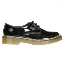 Zapatos Tipo Dr Martens Charol Negro Acordonado Marta Sixto