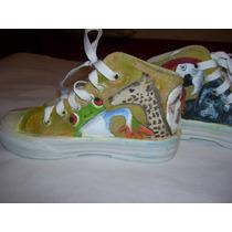 Zapatillas Botitas Pintadas A Mano