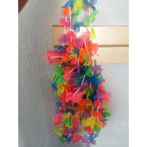 10 Collar Hawaiano Flor Colores Fiesta Evento Mayoreo Envio