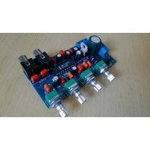 Kit Placa Montada Pré Amplificador Controle De Tons Lm1036n