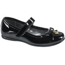 Zapato Escolar Niña Tipo Charol 156542 Ze1