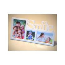 Portaretrato Multiple Para 3 Fotos Con Inscripcion Smile