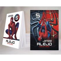 Spiderman Hombre Araña Souvenir Anotador Personalizado X32!!