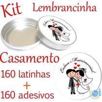 Kit Lembrancinha Casamento Latinha E Etiqueta Melhor Preço