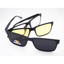 Óculos Unissex Ultem Com Clip Noturno E Solar Mc3223