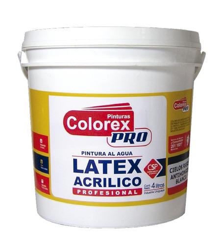 Pintura latex plus interior exterior colorex pro 18 lts for Pintura latex interior