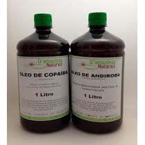 Óleo De Copaíba+ Óleo De Andiroba - 1 Litro De Cada Frasco