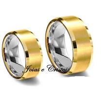 Par Alianças Moedas Antiga Casamento Noivado 7 Mm Cor Ouro