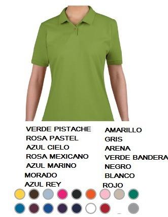 Playeras Tipo Polo Dama Gildan -   109.00 en Mercado Libre ea0a2e5385541