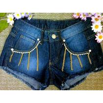 Shorts Jeans Cintura Alta Hot Pants Customizado