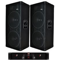 Par Caixas Acusticas 2x15 +ti Selenium Jbl Amplificador 900