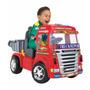 Caminhão Big Truck Vermelho Elétrico Com Caçamba - Magic Toy