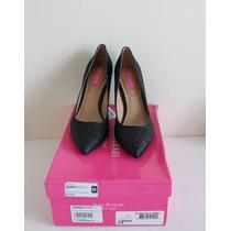 Zapatos Tacones Isaac Mizrahi New York Glitter Negros 36