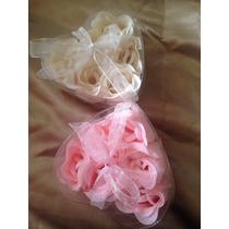 Flores De Jabón, 6 Aromáticas Rosas, Ideal Como Recuerdo
