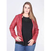 Jaqueta Plus Size Matelassê Feminina Facinelli - Vermelho