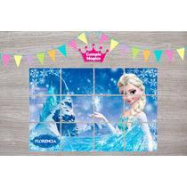 Frozen Rompecabezas Iman 15x10cm X10u Souvenir Personalizado