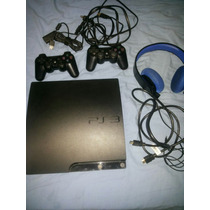 Play Station 3 Slim 160 Gb Destrav Hd + 2 Controles