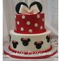 Torta De Minnie Mickey Disney Relleno Y Sellado Incluido