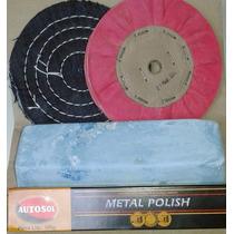 Kit Polimento Para Alumínio Inox E Cromo !!! O Melhor Do Ml