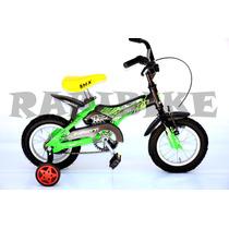 Bicicleta Niño Infantil Rod 12 Max Aluminio Bmx Rueditas