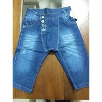 Bermuda Jeans Saruel Masculina Infantil Juvenil 86401