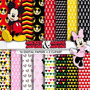 Kit Imprimible Pack Fondos Mickey And Minnie Clipart