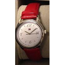 Precioso Reloj Tommy Hilfiger Correa Roja Autentico - Nuevo